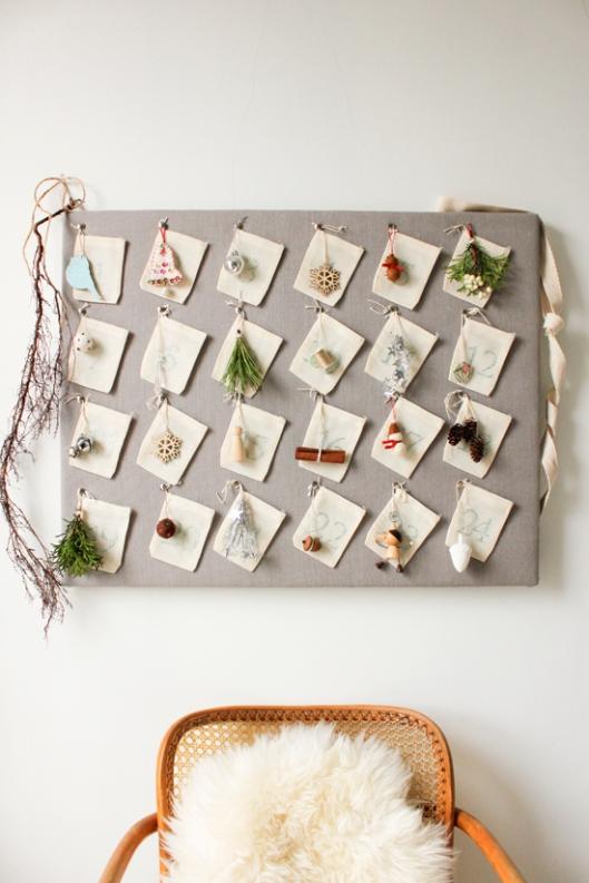 Home made christmas advent calendar diy craft