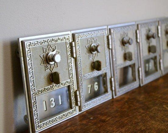 Vintage post office box doors