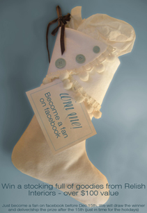 Win a free stocking from Relish Interiors