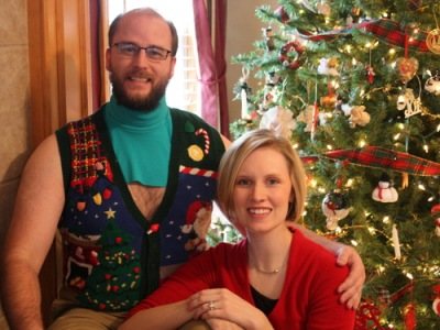 "the ""Uber-Dickie"" Ugly Christmas Sweater"