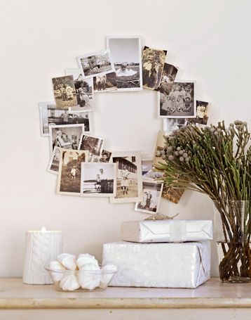 Photo Christmas wreath diy holiday decor