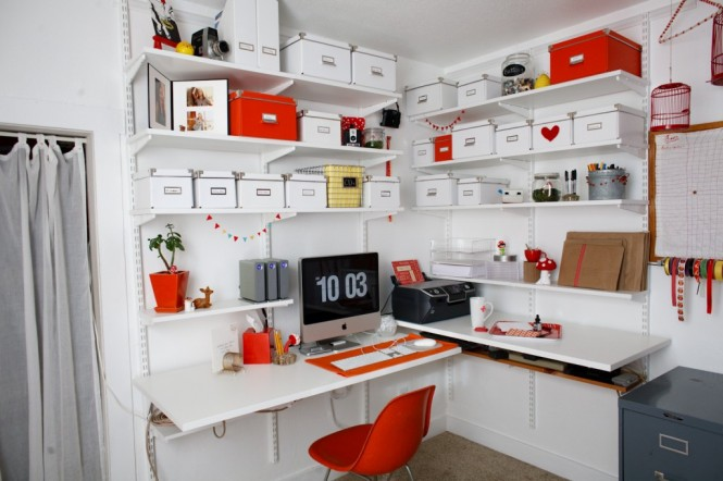 White and Orange Office