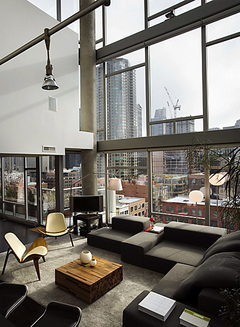 Man caves and bachelor pads relish interiors - A loft apartment bachelor pad ...
